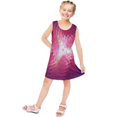 Fractal Red Sample Abstract Pattern Background Kids  Tunic Dress