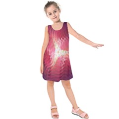 Fractal Red Sample Abstract Pattern Background Kids  Sleeveless Dress