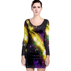 Galaxy Deep Space Space Universe Stars Nebula Long Sleeve Bodycon Dress