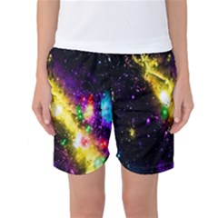 Galaxy Deep Space Space Universe Stars Nebula Women s Basketball Shorts