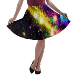 Galaxy Deep Space Space Universe Stars Nebula A Line Skater Skirt