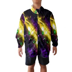 Galaxy Deep Space Space Universe Stars Nebula Wind Breaker (kids)