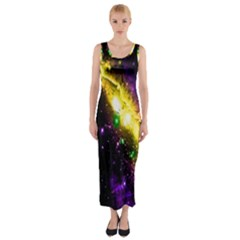 Galaxy Deep Space Space Universe Stars Nebula Fitted Maxi Dress
