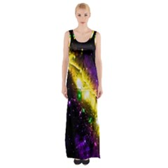 Galaxy Deep Space Space Universe Stars Nebula Maxi Thigh Split Dress