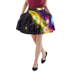Galaxy Deep Space Space Universe Stars Nebula A-Line Pocket Skirt