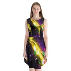 Galaxy Deep Space Space Universe Stars Nebula Sleeveless Chiffon Dress