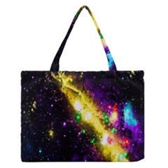 Galaxy Deep Space Space Universe Stars Nebula Medium Zipper Tote Bag