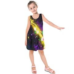 Galaxy Deep Space Space Universe Stars Nebula Kids  Sleeveless Dress