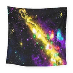 Galaxy Deep Space Space Universe Stars Nebula Square Tapestry (large)