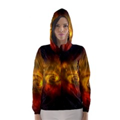 Galaxy Nebula Space Cosmos Universe Fantasy Hooded Wind Breaker (women)
