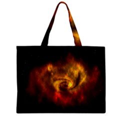 Galaxy Nebula Space Cosmos Universe Fantasy Zipper Mini Tote Bag