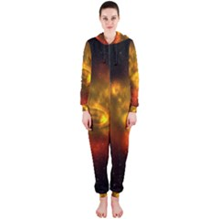 Galaxy Nebula Space Cosmos Universe Fantasy Hooded Jumpsuit (ladies)