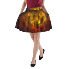 Galaxy Nebula Space Cosmos Universe Fantasy A Line Pocket Skirt