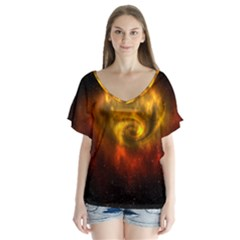 Galaxy Nebula Space Cosmos Universe Fantasy Flutter Sleeve Top