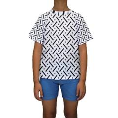 Geometric Pattern Kids  Short Sleeve Swimwear