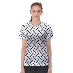 Geometric Pattern Women s Sport Mesh Tee