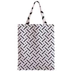 Geometric Pattern Zipper Classic Tote Bag