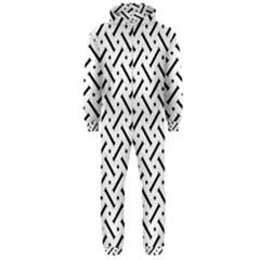 Geometric Pattern Hooded Jumpsuit (men)