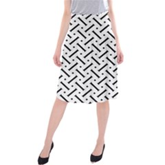 Geometric Pattern Midi Beach Skirt