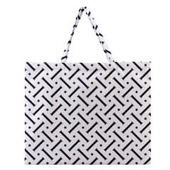 Geometric Pattern Zipper Large Tote Bag