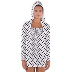 Geometric Pattern Women s Long Sleeve Hooded T Shirt