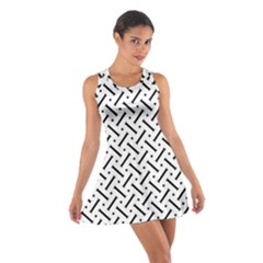 Geometric Pattern Cotton Racerback Dress