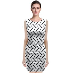 Geometric Pattern Classic Sleeveless Midi Dress