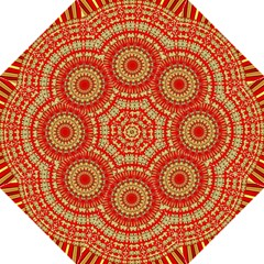 Gold And Red Mandala Folding Umbrellas