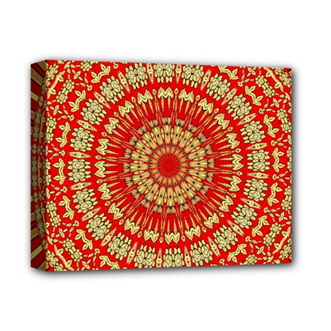 Gold And Red Mandala Deluxe Canvas 14  X 11