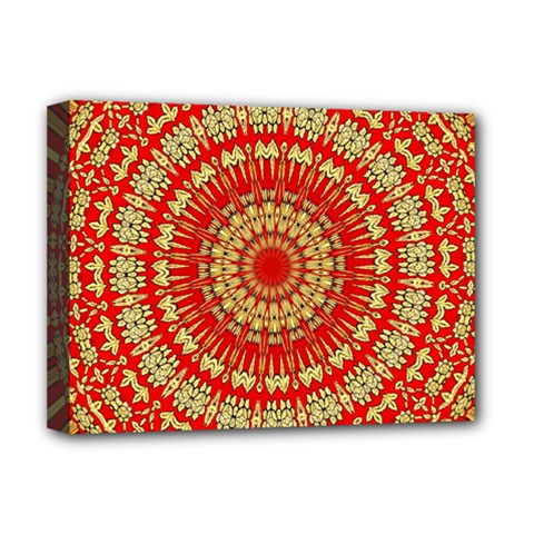 Gold And Red Mandala Deluxe Canvas 16  x 12