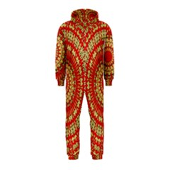Gold And Red Mandala Hooded Jumpsuit (kids)