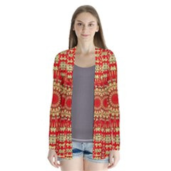 Gold And Red Mandala Cardigans