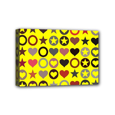 Heart Circle Star Seamless Pattern Mini Canvas 6  X 4
