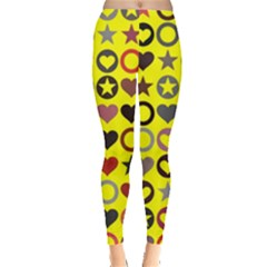 Heart Circle Star Seamless Pattern Leggings