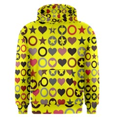 Heart Circle Star Seamless Pattern Men s Pullover Hoodie