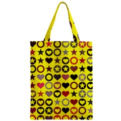 Heart Circle Star Seamless Pattern Zipper Classic Tote Bag