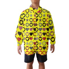 Heart Circle Star Seamless Pattern Wind Breaker (kids)