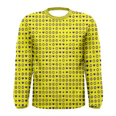 Heart Circle Star Seamless Pattern Men s Long Sleeve Tee
