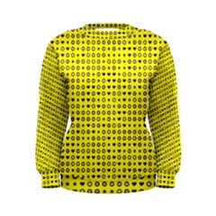 Heart Circle Star Seamless Pattern Women s Sweatshirt