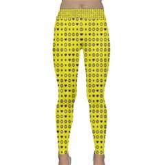 Heart Circle Star Seamless Pattern Classic Yoga Leggings