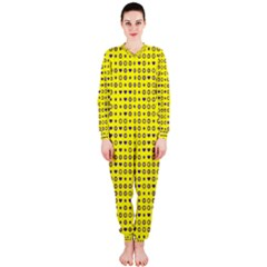 Heart Circle Star Seamless Pattern Onepiece Jumpsuit (ladies)