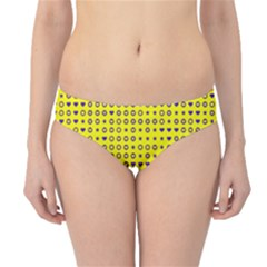 Heart Circle Star Seamless Pattern Hipster Bikini Bottoms
