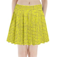 Heart Circle Star Seamless Pattern Pleated Mini Skirt