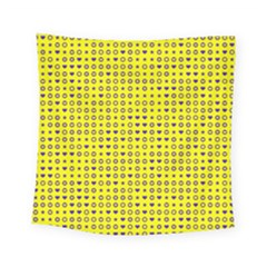 Heart Circle Star Seamless Pattern Square Tapestry (small)