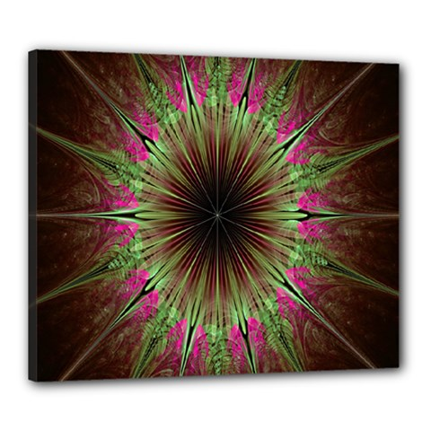 Julian Star Star Fun Green Violet Canvas 24  X 20