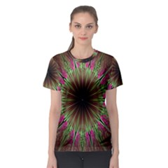 Julian Star Star Fun Green Violet Women s Sport Mesh Tee