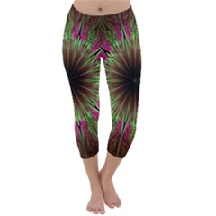Julian Star Star Fun Green Violet Capri Winter Leggings