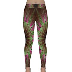 Julian Star Star Fun Green Violet Classic Yoga Leggings