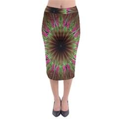 Julian Star Star Fun Green Violet Midi Pencil Skirt