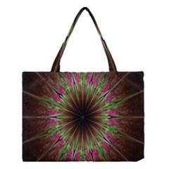 Julian Star Star Fun Green Violet Medium Tote Bag